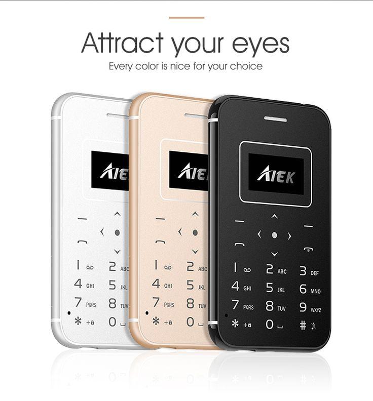 AIEK X8 0.96 Inch 320mAh 4.8mm Led Torch Ultra-thin Pocket Mini Card Mobile Phone