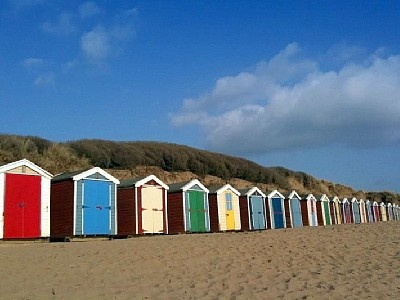 Beach Huts - Saunton Sands, North Devon. I was always jealous of the owners of these!