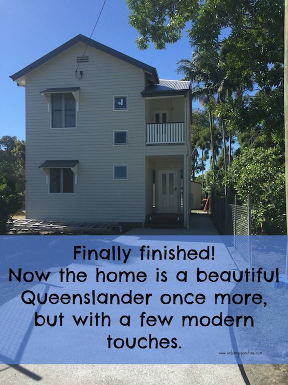 The house is finally finished. A beautiful Queenslander with a few modern touches. #queenslander #queenslanderrenovation