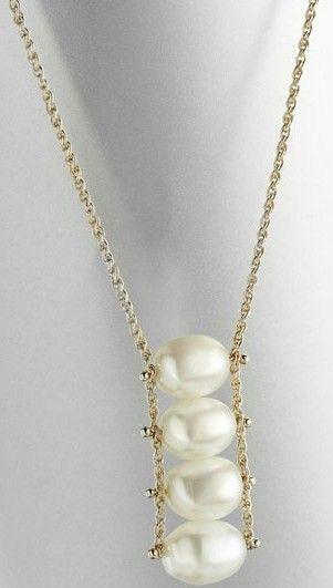 .Colgante de perlas / Pearl pendant   Aros   Pinterest   Pearl pendant, Classic style and Classic