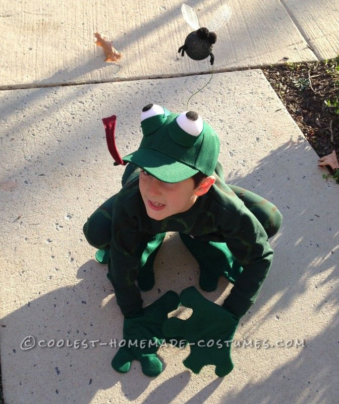 Fantastic Frog Costume for a First Grader - 1