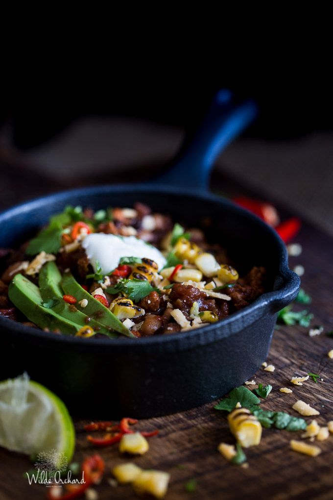 Okay, if you're not making this Fiery Chipotle Chilli for Super Bowl tomorrow, I don't even know what you're doing! What ever it is, it can wait. This chilli and that football game are pretty much the two most important things happening. And that football game isn't even all that important. But this chilli is...