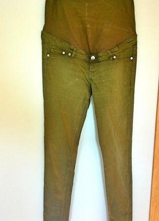 Kup mój przedmiot na #vintedpl http://www.vinted.pl/damska-odziez/spodnie-ciazowe/16889269-spodnie-ciazowe-zielone-khaki-hm-40-rurki