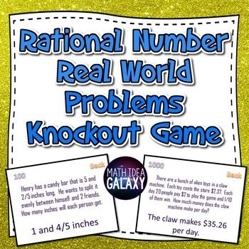 This engaging game reviews answering real world word problems with rational numbers and all four operations. Students love playing this interactive whole class game.