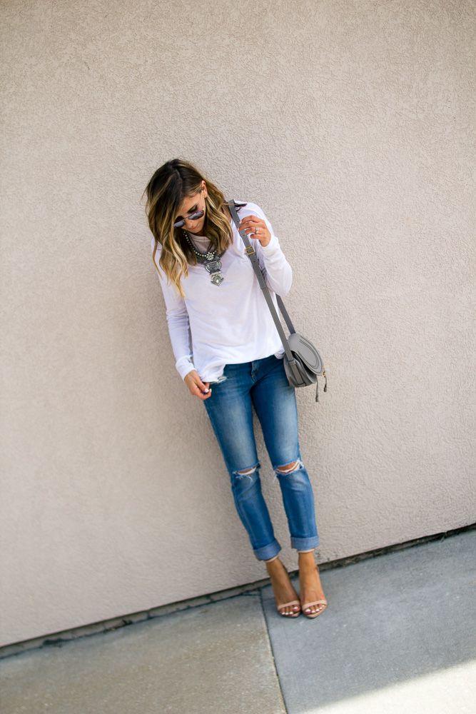 Long sleeve white tee... Cella Jane | A Fashion, Beauty & Lifestyle Blogger : Not So Basic