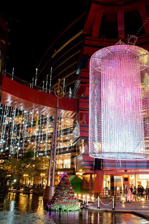 Canal City Hakata shopping mall, Fukuoka, Japan キャナルシティのイルミネーション  博多