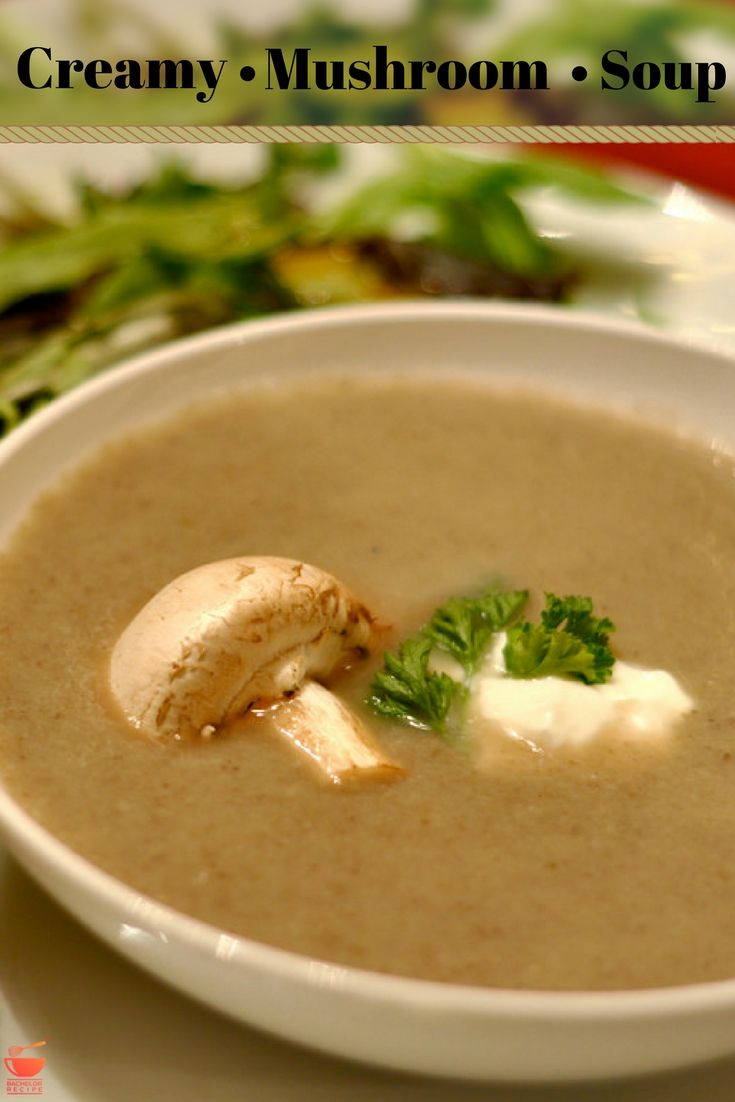 Making homemade soup is easier than you think, try this easy mushroom soup at home. - Bachelor Recipe #soup #food #recipe #bachelor #mushroom #creamy #easy #quick #healthy