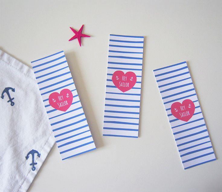 Printable : Le marque-page Hey Sailor