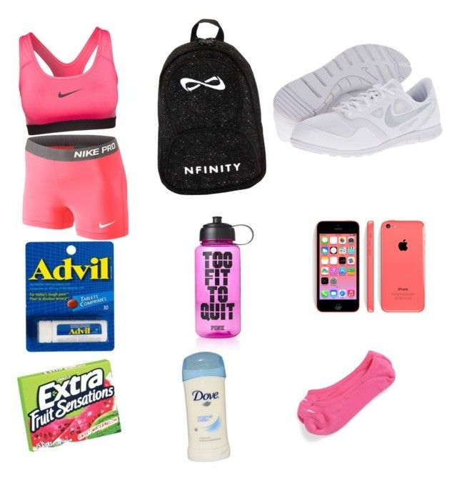 """""""What's in my cheer bag"""" by nya-royal on Polyvore"""