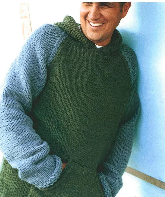 mens-and-boys-hooded-sweater-knitting pattern Mens knits Pinterest Shop...