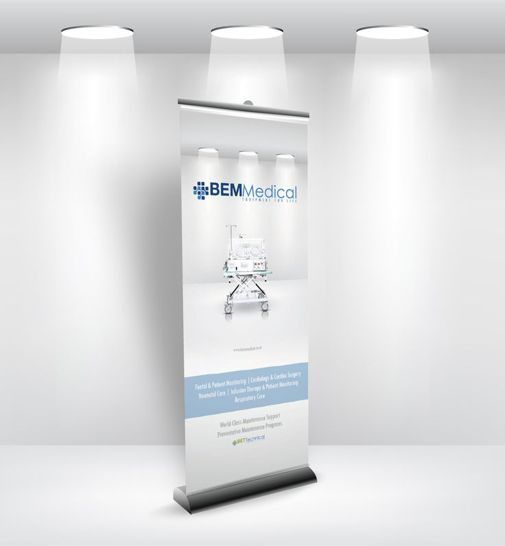Proposed banner design for BEM Medical equipment.