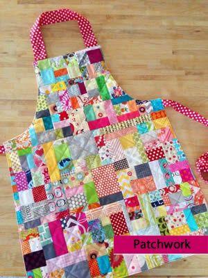 delantales en patchwork