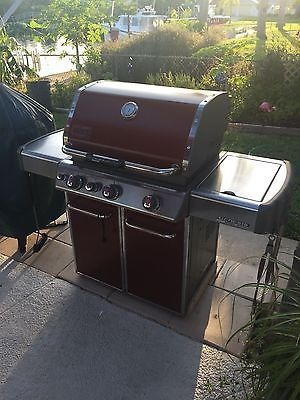 WEBER Genesis EP-330 LP Gas BBQ Grill - Red/ 2016 in USA made
