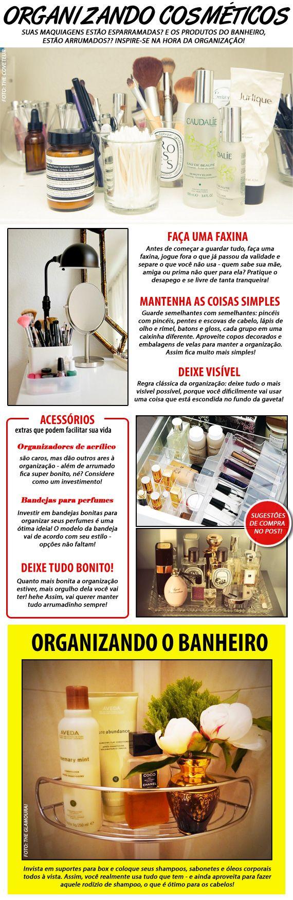 Organizando os cosméticos!
