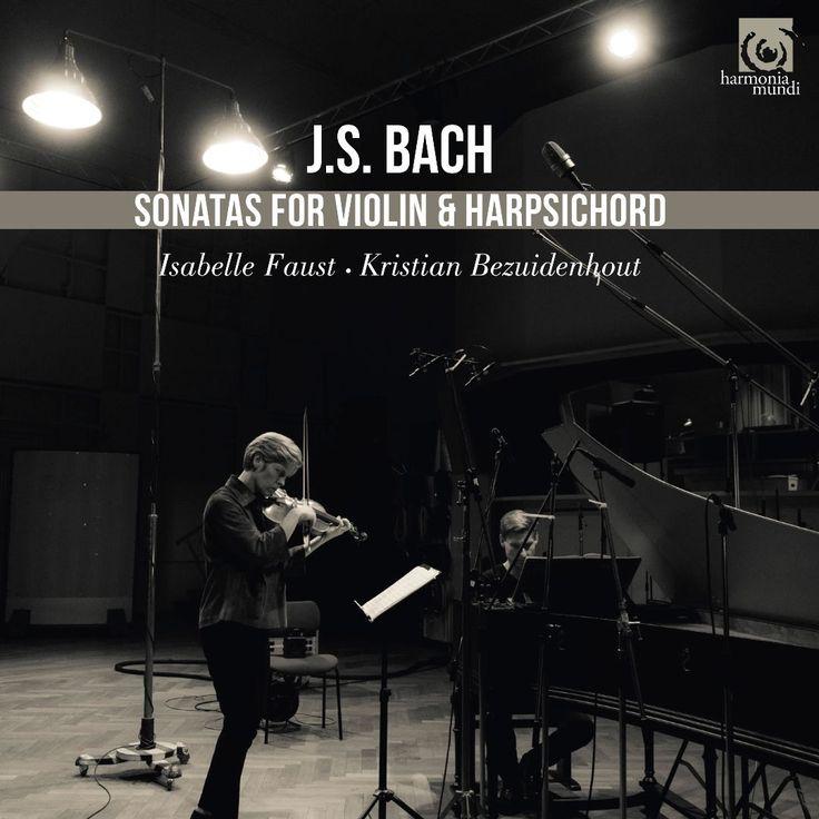 Isabelle Faust / Kristian Bezuidenhout : J.S. Bach: Sonatas for Violin & Harpsichord / Harmonia Mundi / Chamber Music - German violinist Isabelle Faust and South African keyboardist Kristian Bezuidenhout present Bach's innovative sonatas for violin and obbligato harpsichord. - James Manheim #albums #tickets #music