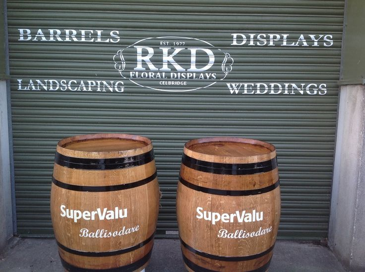 SuperValu Wine Barrels Branded By RKD Floral Displays