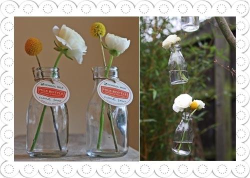 Old School Milk Bottles - www.theweddingofmydreams.co.uk £2.75 per bottle