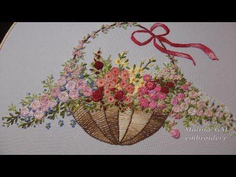 ЦВЕТОЧНАЯ ВЫШИВКА ( РОЗЫ )  Hand Embroidery: Flower stitch (ROSES) - YouTube