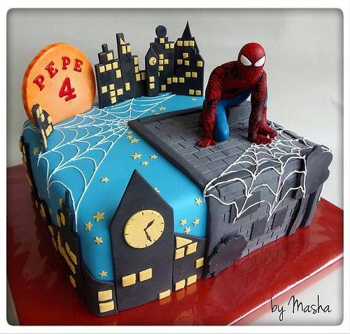 SPIDERMAN BIRTHDAY cake by Sweet Cakes by Masha, via Flickr