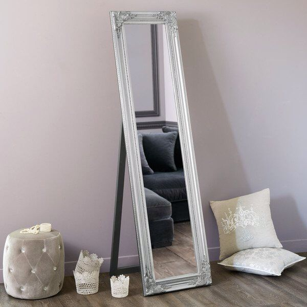 Miroir maison du monde miroir pinterest for Miroir sur pied en bois