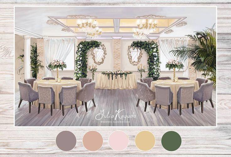 Эскиз для @miroslava_studio  получилась очень уютная обстановка, мягкие кресла создают впечатление семейной обстановки, как будто на торжество приглашены только самые близкие. Каждая задумка декоратора имеет свое настроение, и если поймать это настроение то считай что картинка удалась  #эскизсвадьбы  #свадьба  #президиум  #оформлениесвадьбы  #weddingdecor  #wedding  #sketch  #weddinginspiration  #weddingillustration #скетчназаказ #sketching  #sketch  #interiorsketch  #interior #декор…