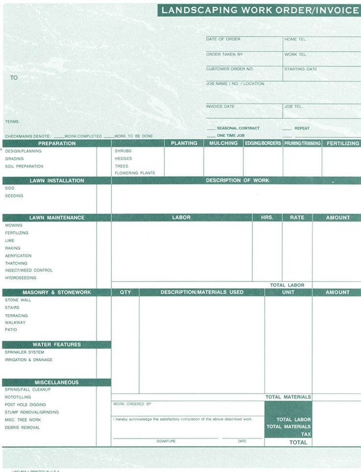 Best Work Order Forms Images On   Order Form Sample