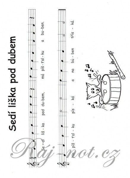 Notičky pro čtyři prstíčky I + CD / jednoduché písničky pro zobcovou flétnu