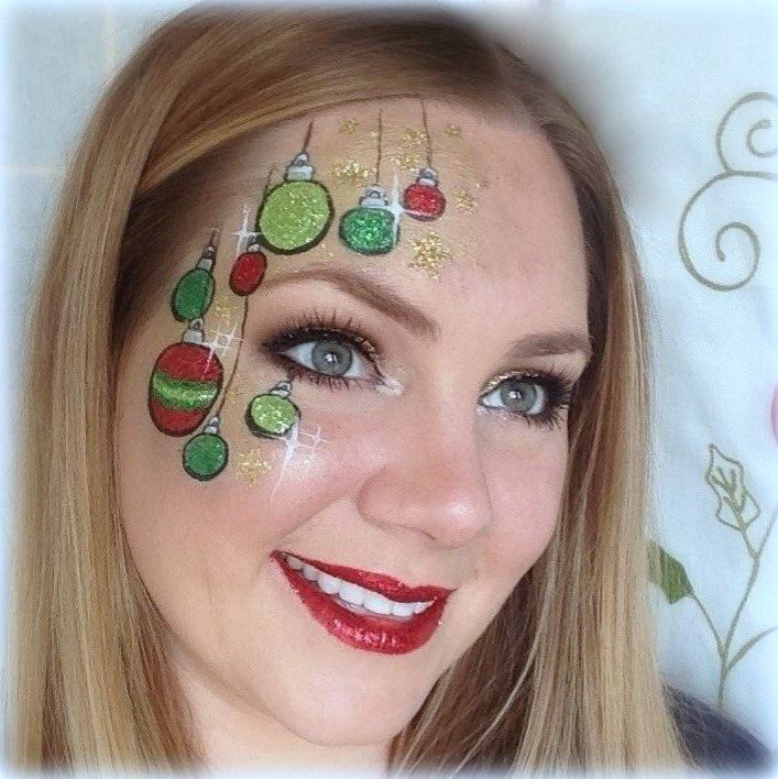 Christmas face painting idea, Lisa Joy Young