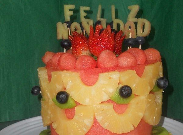 17 best images about pinchos hechos con frutas on - Arreglos navidenos faciles de hacer ...