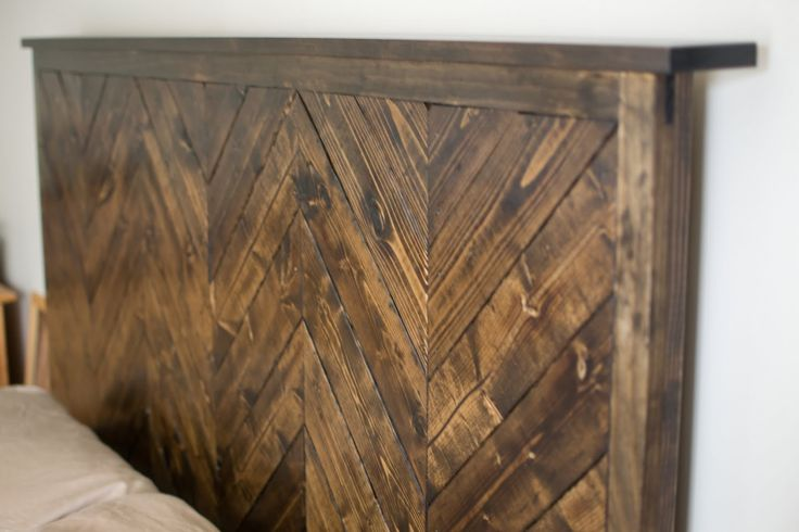 Chevron Weathered Headboard Diy Homsie Inside