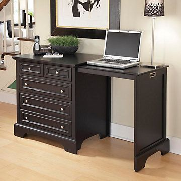 Home Styles Bedford Expan Desk Desk, Black