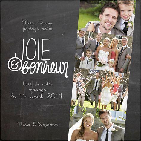 Carte de remerciements de mariage : Joie & Bonheur à personnaliser sur http://www.popcarte.com/cartes-flash/carte-remerciements/remerciement-mariage-joie-et-bonheur.html