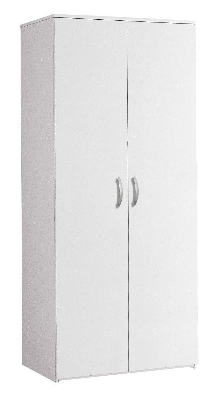 Armadio 2 Ante Bianco Nuovo Art 96a06b Consegna Gratuita