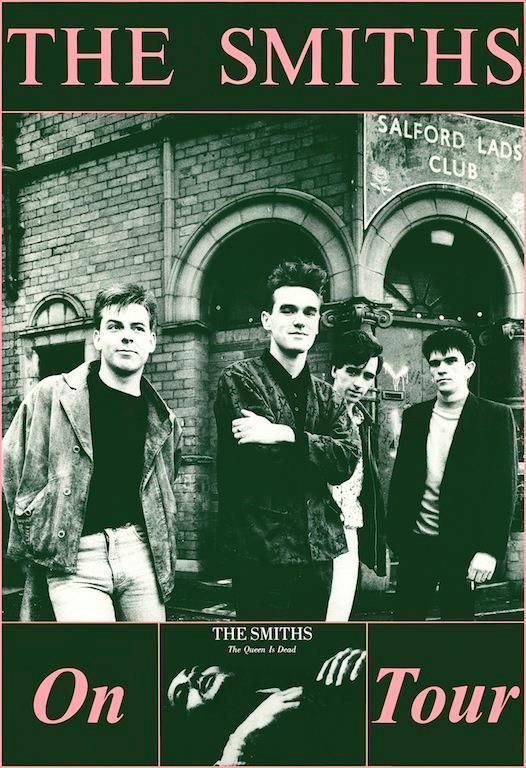 """The Smiths Queen is Dead """"On Tour"""" 1986 POSTER Morrissey Johnny Marr"""