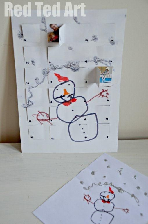 Child's Art Advent Calendar for Granny