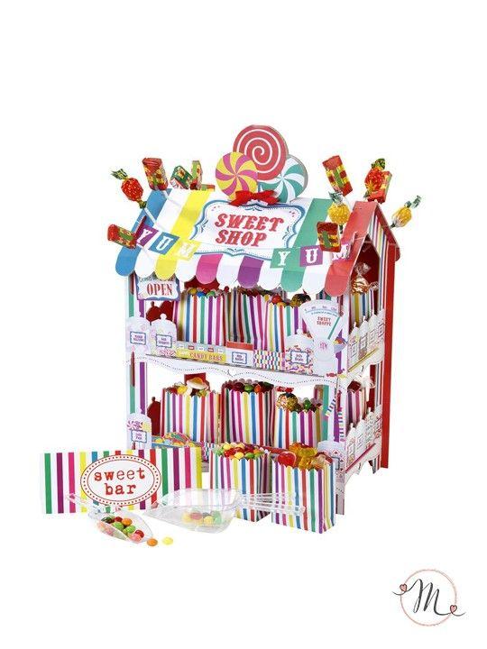 Stand per caramelle.  Stand in cartoncino per caramelle e dolciumi.  Lo stand è reversibile.  Misure: 38 x 32 x 18 cm. #matrimonio #wedding #candybar #buffet #dolci #ceremony #party #weddingideas #weddingmoment #confettata