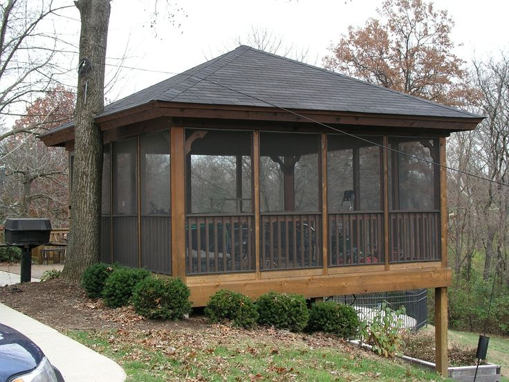 Find This Pin And More On Porches By Madeleineschall. Ideas And Designs  Screened Gazebo