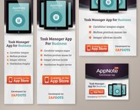 Examples of different banner ad layout