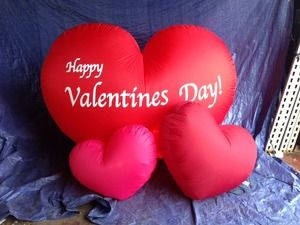 6ft Airblown Inflatable Hearts (Sample)