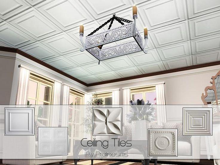 Pralinesims Tsr Ceiling Tiles Sims3 Build Mode