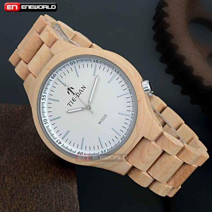 Fashion Bamboo Watch Wooden Watch Natural Wood Band Wristwatch Quartz Gift Box