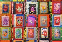 harmony day art framed hand prints