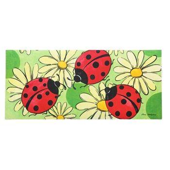Evergreen Sassafras Ladybugs U0026 Daisies Switch Mat Rug 431108 NEW