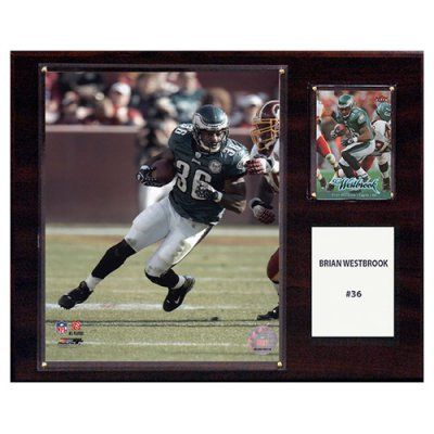 C and I Collectables NFL 15W x 12H in. Brian Westbrook Philadelphia Eagles Player Plaque - 1215BWESTBR