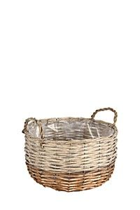 WOVEN BASKET PLANTER, LARGE