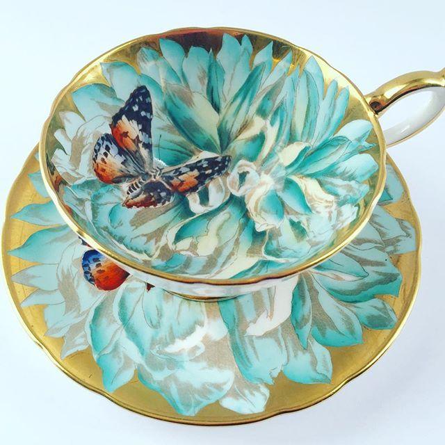 Aynsley Butterfly Tea Cup & Saucer