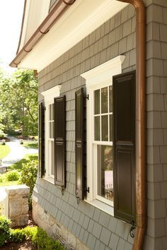 17 best ideas about black shutters on pinterest outdoor - Best spray paint for exterior shutters ...