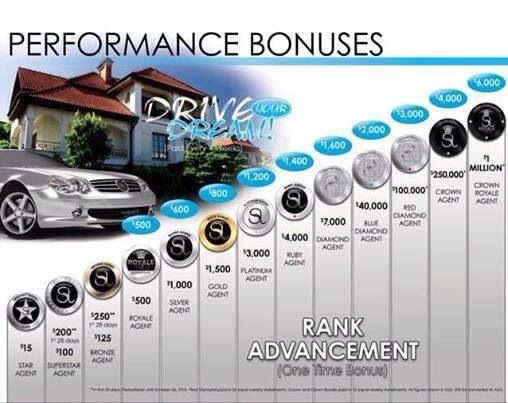 One time bonus payments as well as monthly bonus payments for rank advancing. :-)