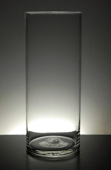 """Clear Glass Cylinder Vase, 12"""" tall and 4"""" wide opening,  $6.49 each or buy 6 for $5.49 each"""