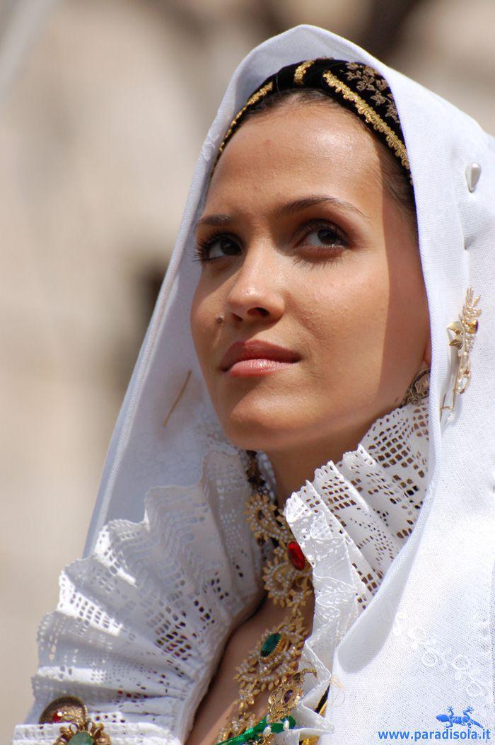 Costume of Sinnai - Sardegna, Italy.